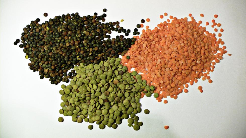 3 types of lentils