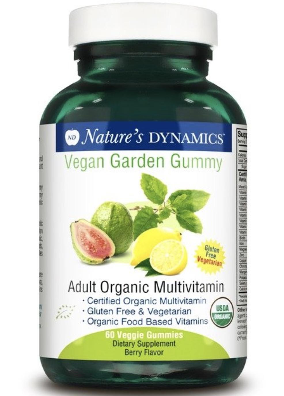 Natures Dynamics Vegan Garden Gummy Adult Organic Multivitamin