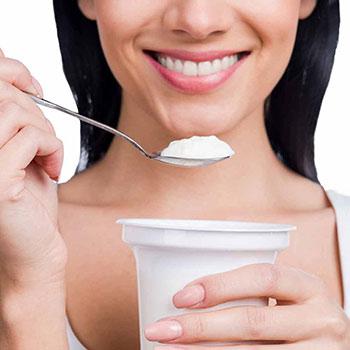 Woman With Probiotics