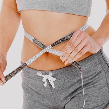 checking waist measurement