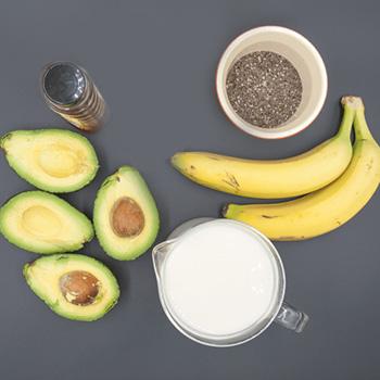 Bananas , Avocado, Milk etc