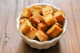 tofu on a white bowl