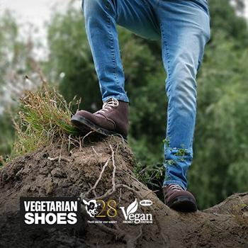 Man wearing Vegetarian Shoes