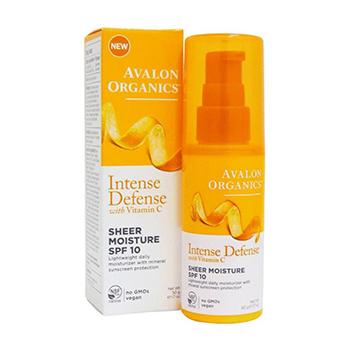 Avalon Organics Intense Defense Sheer Moisture SPF Product