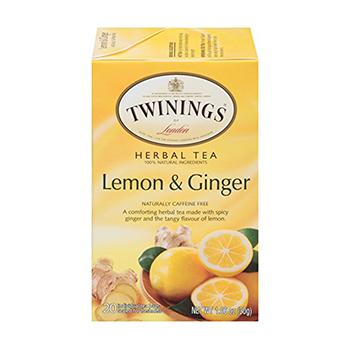 Twinnings London Herbal Lemon and Ginger Tea