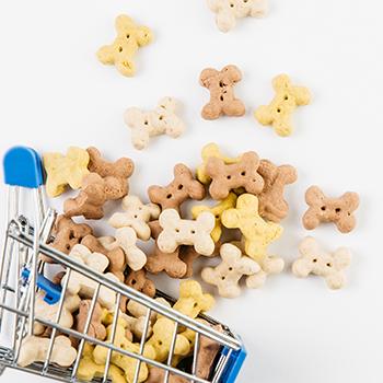 dog food in basket