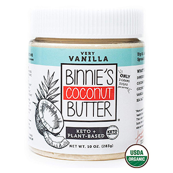 Binnies Coconut Butter Organic Spread