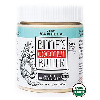 Binnie s Coconut Butter Organic Spread Product