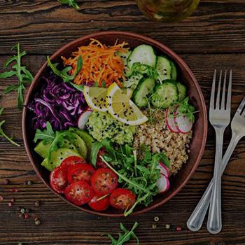 Salad In Dish