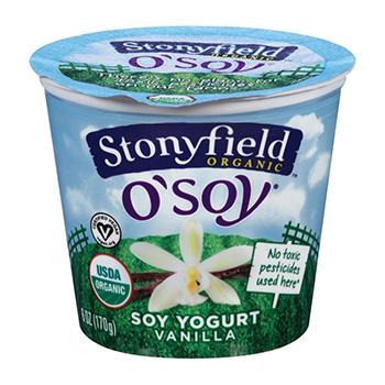 Stonyfield Organic O Soy Vanilla Yogurt