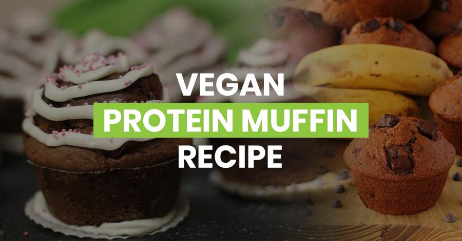 Vegan protein muffin recipe featured image