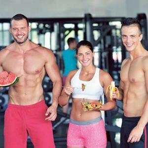 Vegan eople at gym