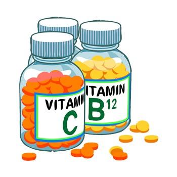 vitamins in bottle