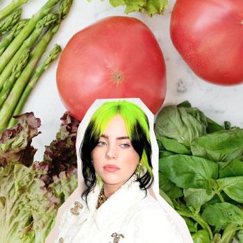 billie eilish and vegetables