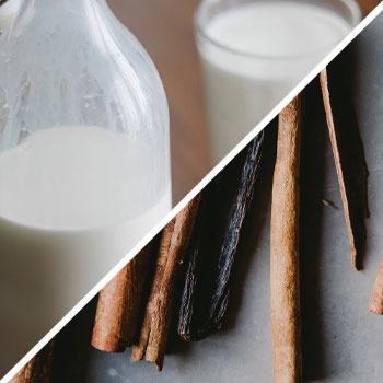 almond milk, and cinnamons