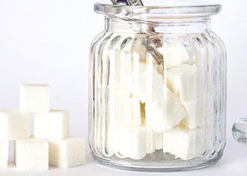sugar cubes in a jar