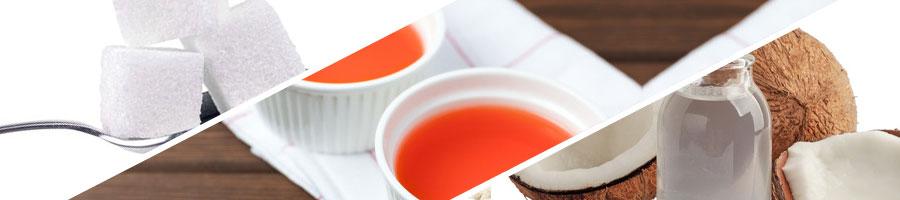 sugar, artificial flavor, palm oil