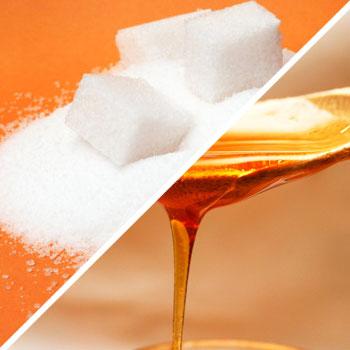 sugar and syrup