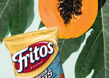 Fritos with papaya