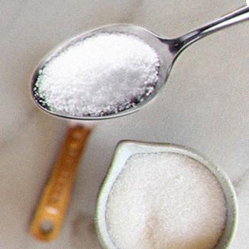 Sugar on table