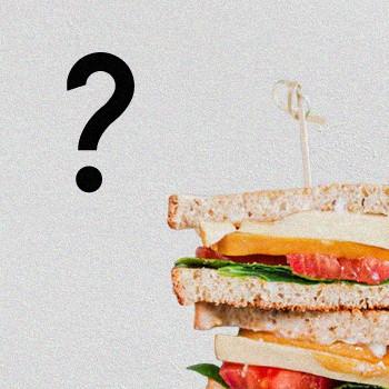 Vegan Sandwich question mark