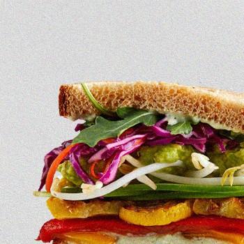 Close up Veggie Sandwich